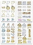 Party Henna Tattoo Set, Gold und Farbe, Hochzeit Junggesellinnenabschied von Sterling James Co.