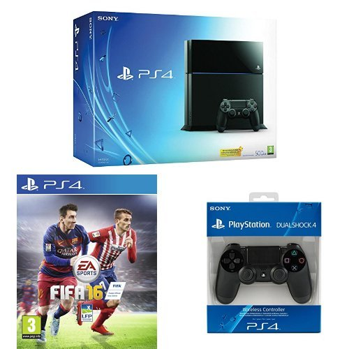 Pack PlayStation 4 500Go + Fifa 16 + Manette PS4 Dual Shock 4