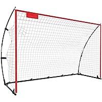 Fußballtor, Tragbare und Faltbare Fußball Tor mit einfache Struktur, für Kinder und Erwachsene, Rot, 3 Größe