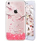 Enflamo® 3D Relief Flower Phone Case Pattern Design Printed Case Soft TPU For IPhone 7 Embossed For IPhone 7/iPhone 8 (iPhone 7/iPhone 8, Cherry Blossom)