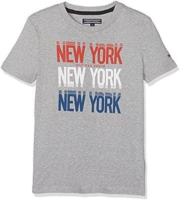 Tommy Hilfiger Boy's Ame Hilfiger Ny Print Cn Tee S/S T-Shirt