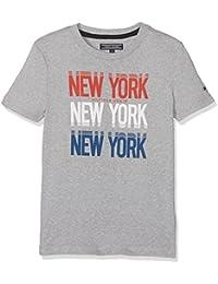 Tommy Hilfiger Jungen T-Shirt Ame Hilfiger Ny Print Cn Tee S/S