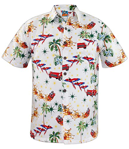 mas Shirt WHITE S (Hawaiian Mann Kostüm)