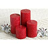 Candles Strawberry Scented Marble Pillar Candles For Diwali Decoration,candles For Decoration Love Candle Set - Set Of 4