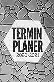 Terminplaner 2020 2021: Kalender und Terminkalender 2020 2021 - (No28) 1 Woche auf 2 Seiten, Wochenplaner und Monatsplaner - Der schöne ... und notieren, Din a5 pflaster grau