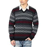aarbee Men's Blended Sweater (Black, Large)
