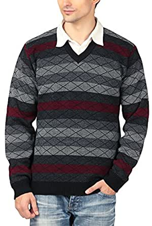 aarbee Men's Blended Size Sweater (HW70113_M, Black, Medium)