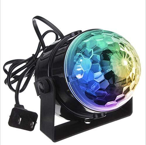 Sprachsteuerung RGB LED Bühnenlampen Crystal Magic Ball Klangsteuerung Laser Bühneneffektlicht Home Party Disco Club DJ Lights (Color : Colorful-US Plug) - Led Crystal Ball