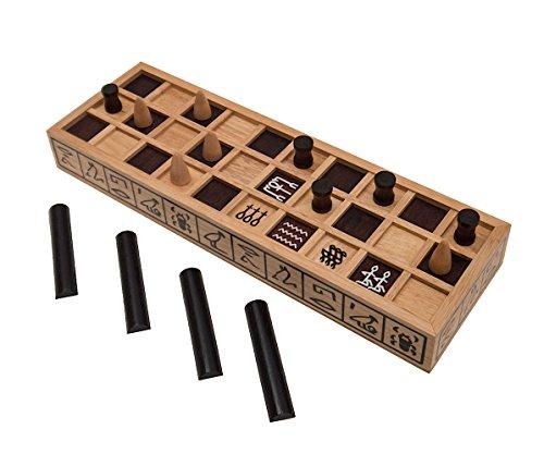Senet - Das Brettspiel der Pharaonen, ein ägyptisches Würfelspiel, Familienspiel, Gesellschaftsspiel aus Holz