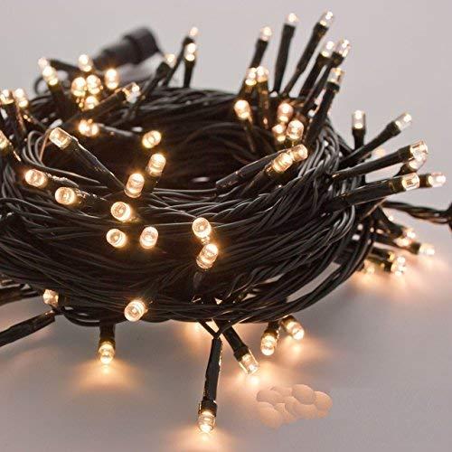 takestop 300 LED LUCI Bianco Caldo Filo Verde Albero di Natale Catena Luminosa Controller...