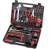 Cassetta degli attrezzi Caja de herramientas de hardware Juego de herramientas de reparación multifunción Alicates Destornillador Juego de llaves Coche de casa