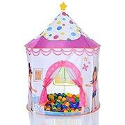 Pop Up tenda gioco Castello da principessa come vasca palline con 100 palline Questo giocattolo è adatto solo per le bambine. La nostra casetta gioco in versione Castello da principessa che rappresenta una tenda vasca palline. Le 100 palline ...