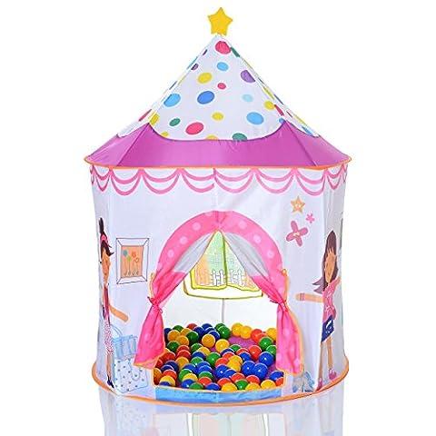 Tente de jeu enfant Pop Up Princess et 100 balles pour de piscine à balles