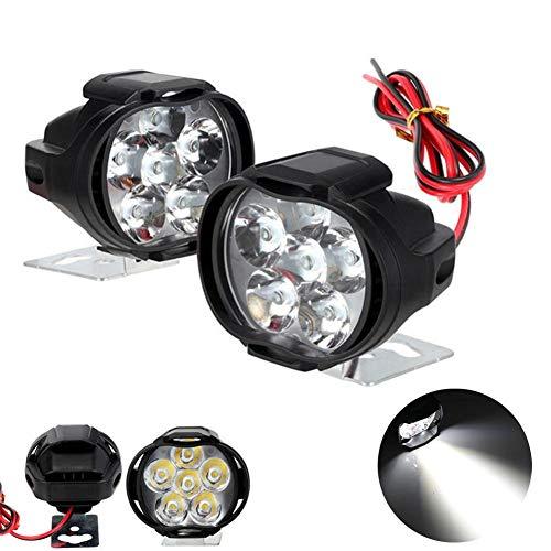 RUNGAO LED Moto Projecteur Lampe 6 LED 18w Lumière Feu Phare Antibrouillard pour Moto Universel