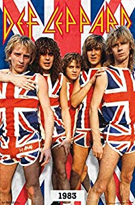 Close Up Def Leppard Union Jack - Póster