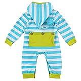 puseky Neugeborene Kleinkind Baby Kapuzenpullover Gestreifter Spielanzug Overall Strampler Kleidung
