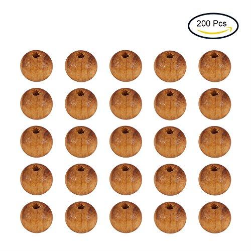 pandahall-lot-de-200pcs-perles-en-bois-sans-plomb-perles-rondes-bois-solide-environ-8-mm-de-diametre