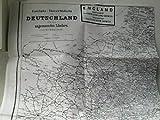 Reprint 1995 zum Reichskursbuch 1914: Eisenbahn-Übersichtskarte Deutschland und angrenzende Länder, auf Rückseite: Hauptverkehrslinien in Europa