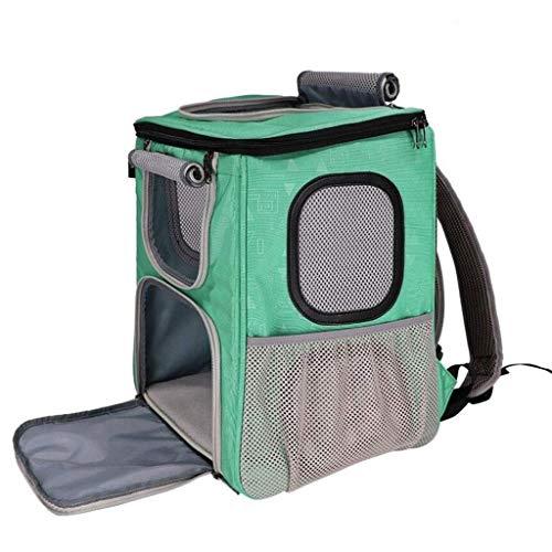 Anap Pet Carrier Rucksack, Airline Approved Dog Carrier Rucksack für kleine und mittlere Haustiere, zum Radfahren, Reisen, Wandern & Spaß (Color : Green) -
