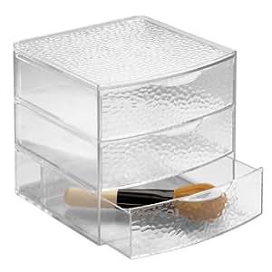 InterDesign 51650EU Rain 3er Schubladenbox, groß
