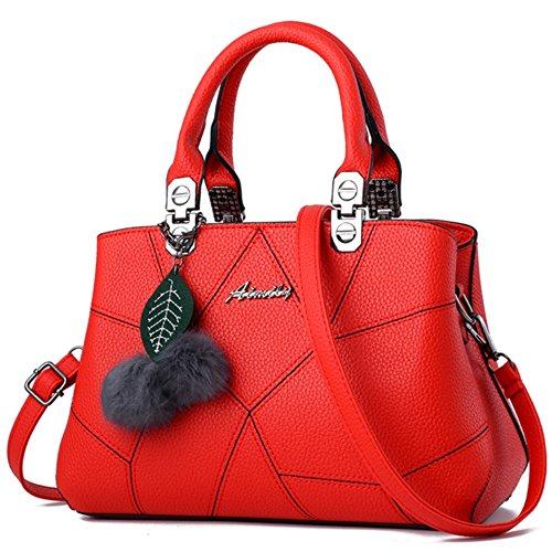 Sac a main Femme Simple Mode Sacs a main Sac d'epaule Pour Women Rouge