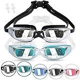 Kodior Schwimmbrille - Schwimmbrillen für Erwachsene Anti-Fog mit Antibeschlag und UV Taucherbrille für Männer Frauen Erwachsene Unisex Training Freizeit (Schwarz+Seeblau)