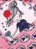 Panel Jersey Stoff Mädchen Blumen rosa Kinderstoff
