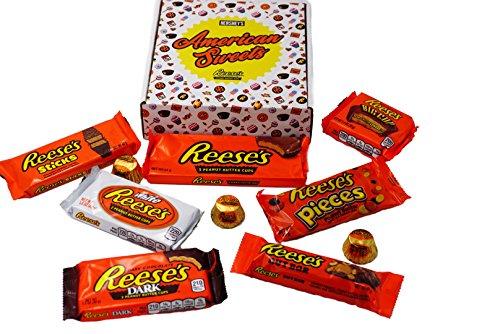 Reese's Amerikanische Süßigkeiten Geschenk-Box - beinhaltet 10 Reeses Produkte aus den USA - S Paket -