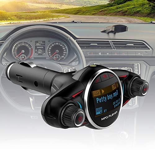 Preisvergleich Produktbild YSHtanj KFZ-Ladegerät,  MP3-Player,  BT08,  Bluetooth,  MP3-Player,  USB-Ladegerät,  AUX,  Freisprechfunktion,  FM-Transmitter - Schwarz