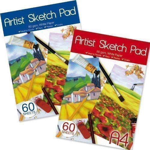 a4-kunstler-skizzen-block-papier-80gsm-60-blatterideal-fur-kreide-bleistift-und-pastell