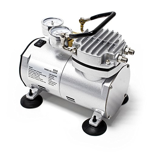 Airbrush Kompressor AS20W Vakuumpumpe Airbrushkompressor 4 bar Einzylinder