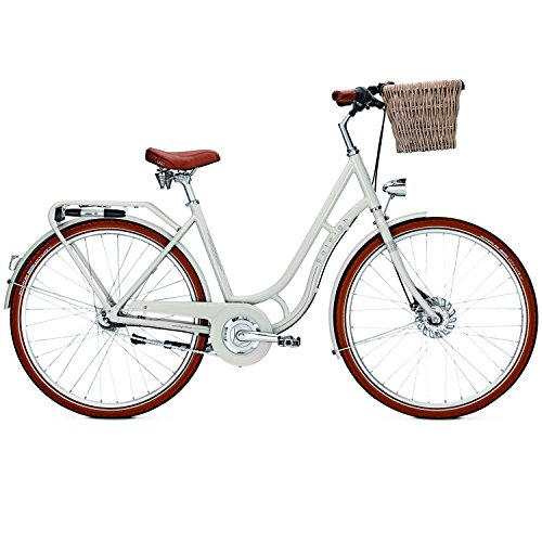Raleigh Damen Brighton 7 Fahrrad, Whitesmoke, 50 (Nexus Bremshebel)