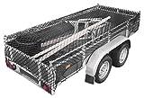 Relaxdays Anhängernetz, Gepäcknetz, dehnbar bis 3x2 Meter, schwarz