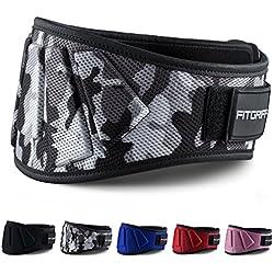 Gewichthebergürtel von FITGRIFF - Fitness-Gürtel für Bodybuilding, Krafttraining, Gewichtheben und Crossfit Training - Trainingsgürtel für Damen und Herren