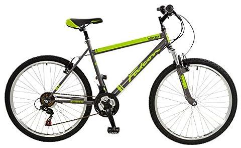 Falcon Men's Odyssey Comfort Mountain Bike - Grey/Lime Green, 12 Years