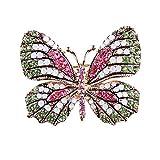 Hosaire 1x Schmetterling Brosche Elegant Diamant Brosche Pin Hochzeit Ansteckernadel Strass Kleidung Dekoration Damen Schmuck (11)
