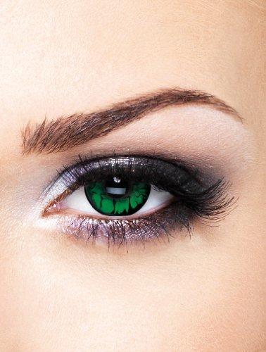 Edit farbige grüne Goblin Auge Kontaktlinsen ohne Stärke (Farbige Augen Kontakte Halloween)