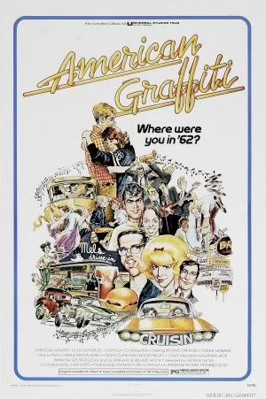 AMERICAN GRAFFITI - HARRISON FORD – Imported Movie Wall Poster Print – 30CM X 43CM (American Graffiti Harrison Ford)