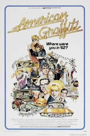 AMERICAN GRAFFITI - HARRISON FORD – Imported Movie Wall Poster Print – 30CM X 43CM (Graffiti Harrison Ford American)