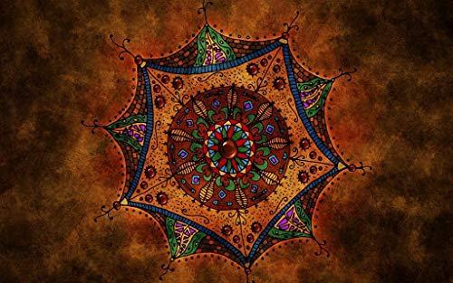 Adultos Puzzle 1000 Piezas De Madera Niño Rompecabezas-Mandala Marrón-Juego Casual De Arte Diy Juguetes Regalo Interesantes Amigo Familiar Adecuado