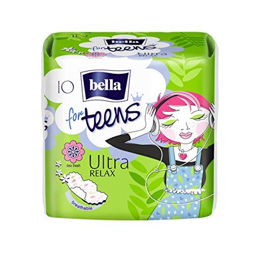 Bella For Teens Ultra Binden Relax: Ultradünne Binden Für Teenager, 6er Pack (6 X 10 Stück), Mit Flügeln + Frischeduft