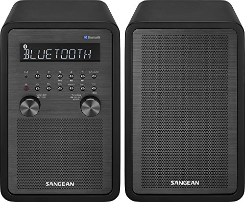 Holz Stereo-schränke (Sangean wr-50p fm-rbds/AM/Bluetooth Holz Schrank Tisch Top Stereo Digital Receiver System)