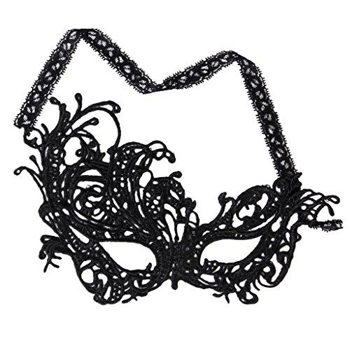 Damen Schwarz Spitzen Auge Maske Venezianische Maskerade Lust auf Kleid Partei Maske