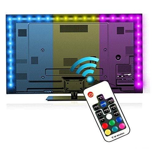 Iluminación para HDTV (78.7in / 2m) com nado a distancia – Luz...