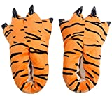 TY fashion Chaussons Chauds Pattes Animaux Cosplay Déguisement Unisexe (M (EU 34-39), tigre)