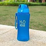 Trinkflasche 480ml mit Filter Auslaufsicher Eco Friendly Kunststoff Wasserflasche Sport Trinkflasche Fahrradflasche für Kinder, Fitness, Fitnessstudio, Fahrrad, Sport, Fussball, Kindergarten Blau