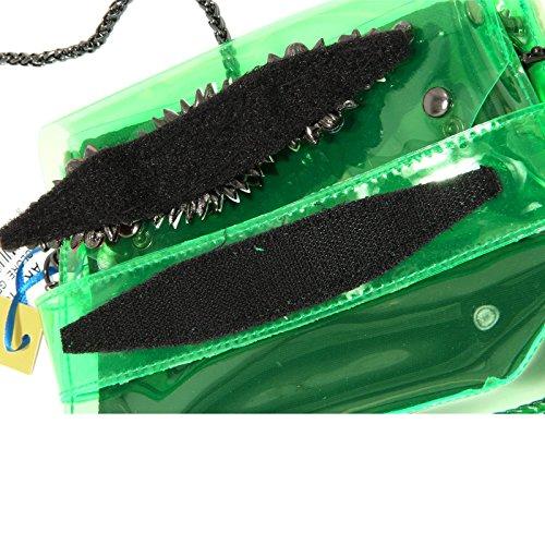8437G pochette donna verde SHOP ART borsa borsetta tracolla accessori bag women Verde