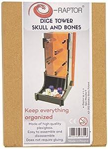 E-Raptor ERA93655 - Dados Towers - cráneo y Huesos, Juego de Cartas