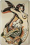 meerjungfau–FORGET ME NOT Marineros novia Mar sirena 20x 30cm cartel de chapa 1644
