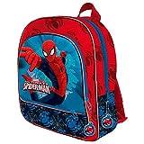 Mochila Spiderman Marvel Spider Jump tres bolsillos adaptable 41cm